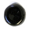 Glass Pressed Beads 8mm Flat Round Black